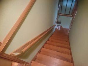 階段手すり取り付け工事