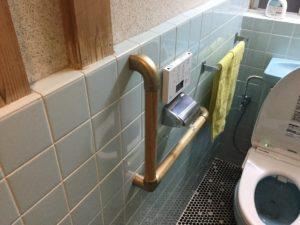 トイレ手すり取り付け工事