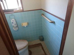 トイレ手すり取り付け