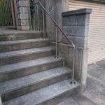 屋外階段手すり取り付け