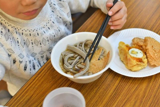 リユース食器を活用したそば打ち 島根県浜田市三隅町